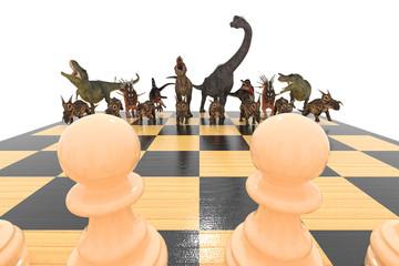 шахматы с динозаврами начало