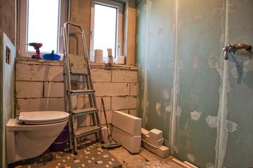 Obraz Bad Renovierung - fototapety do salonu