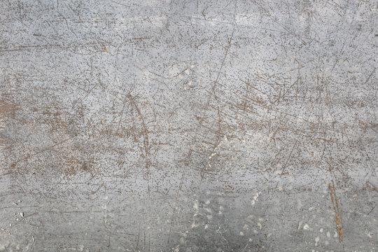 Worn metal sheet floor texture background