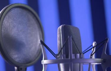 Recording studio voice microphone