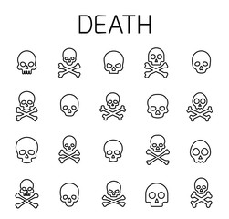 Death related vector icon set.
