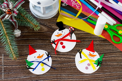 Christmas Snowman Merry Gift Handmade Project Of Children S