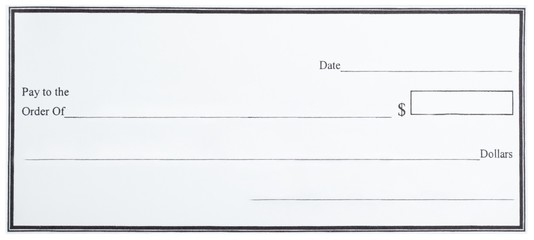 Blank White Cheque Wall mural