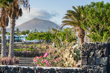 View from Arrecife's promenade, Lanzarote, Spain
