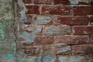 brick background dark and light old plaster