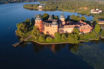 Printed kitchen splashbacks Castle Aerial view of Gripsholm castle