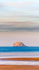 Bass Rock at low tide