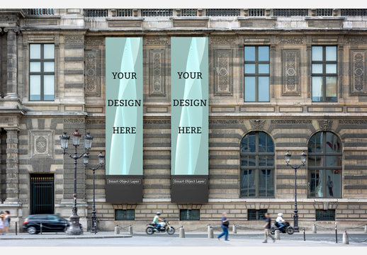 Museum Banners Mockup