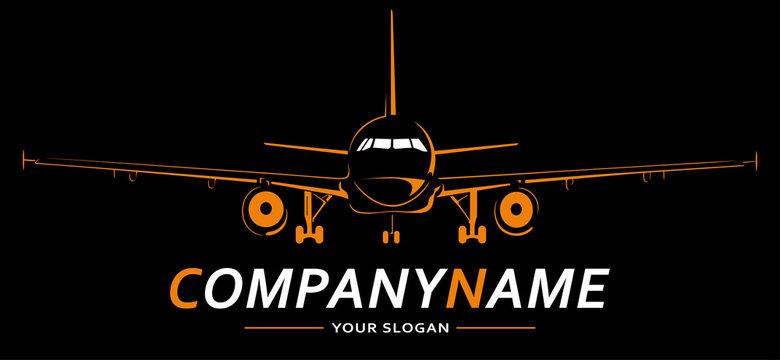 Plane Logo Abstract Lines Design. Creative vector icon. Vector illustration