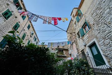 Wäsche aufhängen in Split