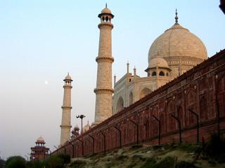 Taj Mahal. Agra. India. Seven Wonders Concept