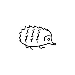 hedgehog icon. Element of autumn icon for mobile concept and web apps. Thin line hedgehog icon can be used for web and mobile