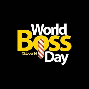 World Boss Day Vector Template Design Illustration