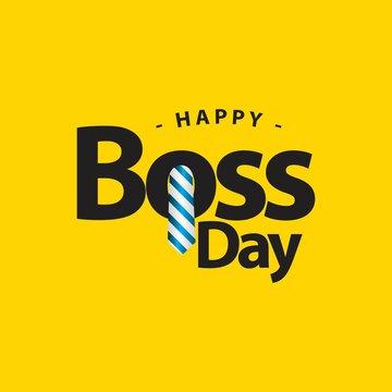 Happy World Boss Day Vector Template Design Illustration