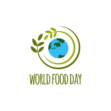 World Food Day Logo Vector Template Design Illustration