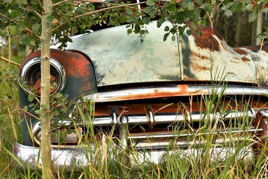 Old Abandoned Car Wreckage