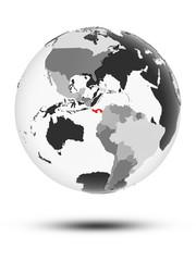 Panama on political globe