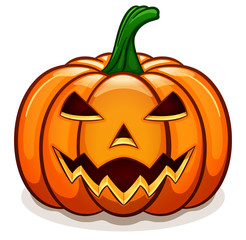 Vector orange halloween pumpkin design
