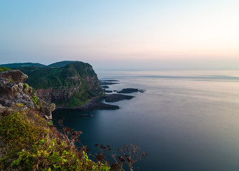 Long exposure of Shiodawara Cliffs on Ikitsuki island in Nagasaki, Japan.