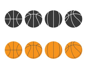 Basketball icon vector isolated on background, flat design and solid style