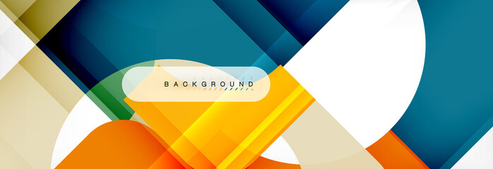 Color square shapes, geometric modern abstract background