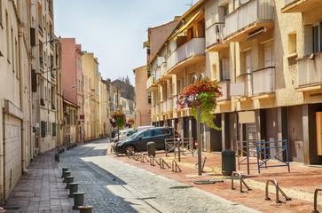 sunday shopping street in Bandol, Cote dAzur