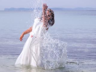 Comunión en el agua