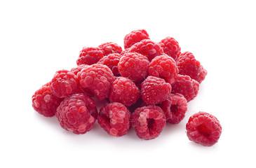Fresh rasberry isolated on white background