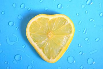 Heart shape of Lemon