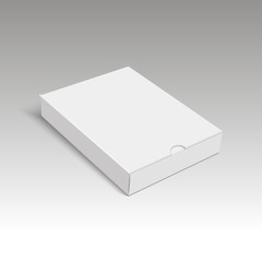Blank of cardboard box packing for gift. Vector