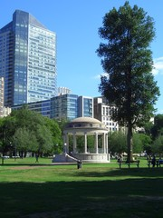 Public Garden in Boston, New England, Massachusetts, USA