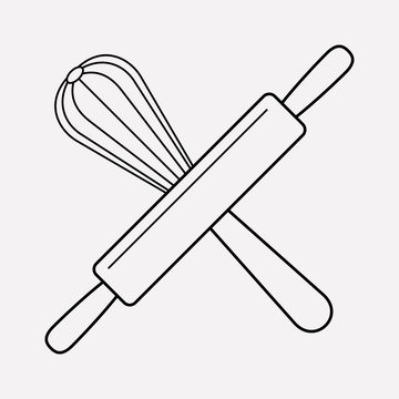Bakery tools icon line element. Vector illustration of bakery tools icon line isolated on clean background for your web mobile app logo design.