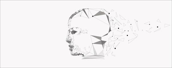 Vector symbol of human head.