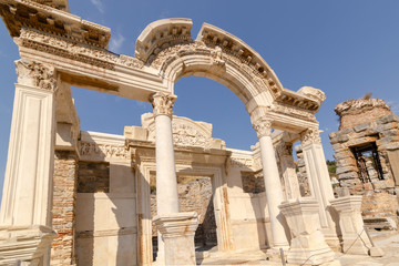 The Temple of Hadrian in Ephesus Ancient City.