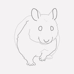 Hamster icon line element. Vector illustration of hamster icon line isolated on clean background for your web mobile app logo design.