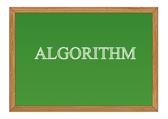 Algorithm blackboard Vector illustration for design
