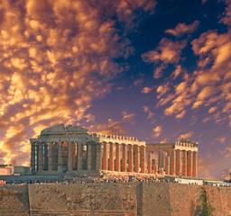 Fototapete - Parthenon  autumn sunset  Athens Greece