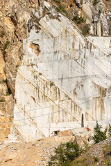 Quarry of white Carrara Marble - Apuan Alps Italy