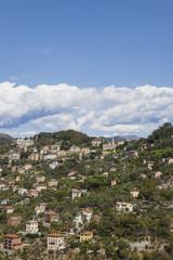 Italy, Liguria, mountain village near Camogli