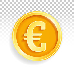 National currency gold coin euro