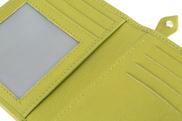 Beautiful and pretty designer green color wallet with featuring slip pockets, multiple card slots and an ID card window with high quality leather.