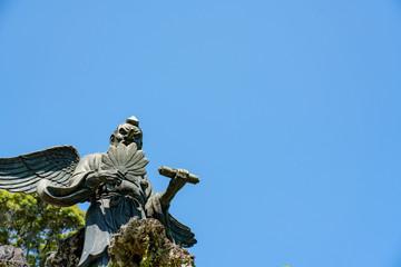 Karasu Tengu (Japanese Goblin) Statue at Kenchoji, Kamakura, Kanagawa, Japan 烏天狗像