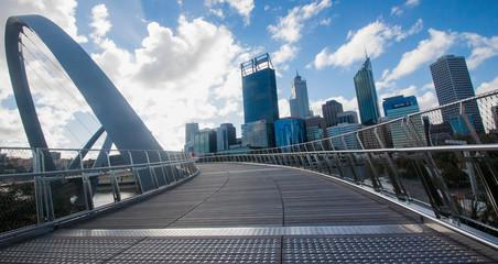 Perth skyline from Elizabeth Quay Bridge