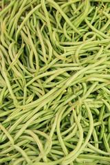 Organic Green Beans Background.