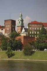 Autocollant pour porte Cracovie Wawel castle in Krakow. Poland