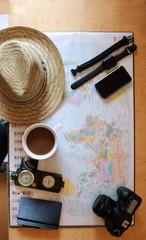 Traumreise mit Weltkarte