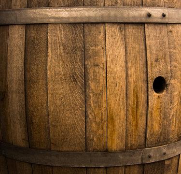 Wood Barrel Background