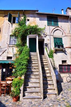 ancient village, pozzo garitta, of Albissola Marina Italy
