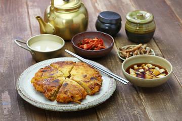 bindaetteok, mung bean pancake, korean food
