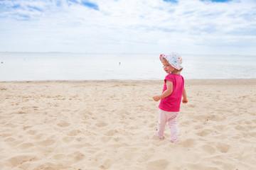 baby girl beach